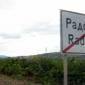 град Радомир - табела за край на града